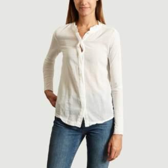 Hartford White Tiercol Round Collar T Shirt - 0   white - White/White