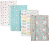 Luvable Friends Teal & Gray Elephant Layered Flannel Burp Cloth - Set of Four