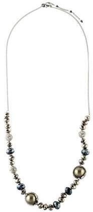 Alexis Bittar Faux Pearl, Crystal, & Hematite Bead Strand Necklace