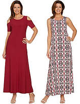 As Is Attitudes by Renee Regular Sld & Prntd Set of Two Dresses