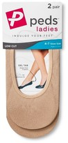 Peds Women's Microfiber Liner Petite 2-Pack - S