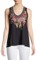 Johnny Was Adeline Sleeveless V-Neck Tank, Plus Size