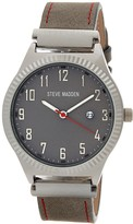 Steve Madden Women's Analog Alloy Leather Strap Watch