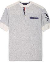 Sean John Shirt, Mixed Short Sleeve Henley