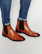 Dune Chelsea Boot In Tan Leather