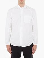 Oamc White Grosgrain-Trim Cotton Shirt