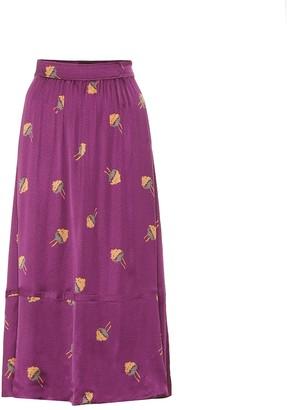 A.P.C. Floral midi skirt