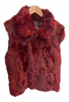 Saks Fifth Avenue Burgundy Rabbit Coats