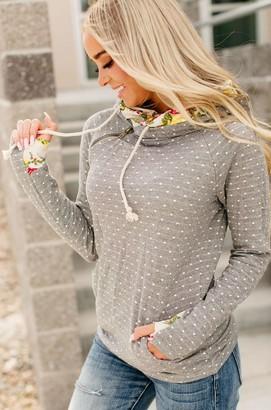 Ampersand Avenue PREORDER: DoubleHood Sweatshirt - Floral Dot