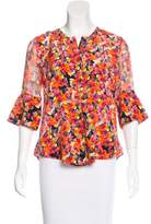 Chris Benz Silk Printed Top