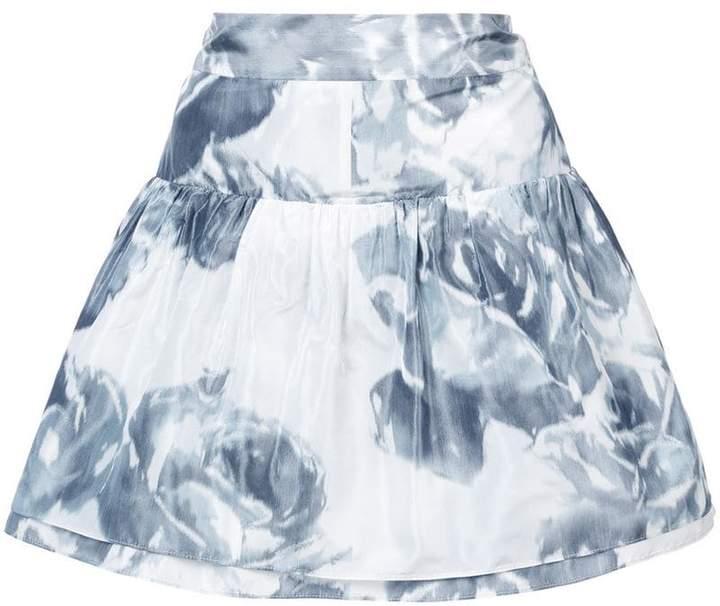 Marchesa rose print skirt