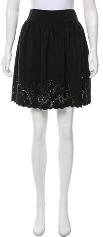 Aqua Casual Knee-Length Skirt
