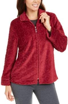 Miss Elaine Jacquard Fleece Bed Jacket