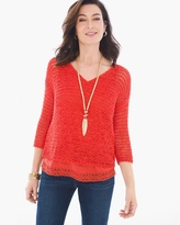 Chico's Ribbon Yarn Sweater