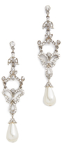 Ben-Amun Deco Pearl Drop Earrings