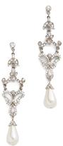 Ben-Amun Deco Pearl Drop Earrings