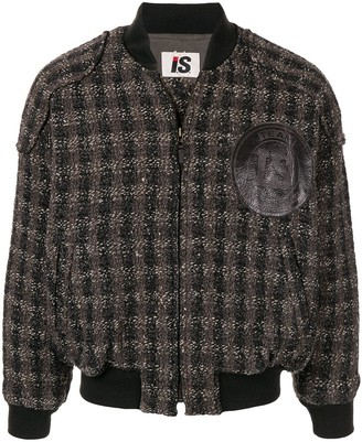 Issey Miyake Pre Owned 1980's Woven Checked Bomber Jacket