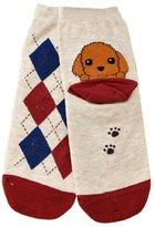 Tonsee Women Cartoon Style Puppy Footprints Cotton Socks
