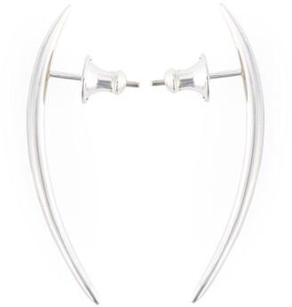 Shaun Leane sterling silver long Quill stud earrings