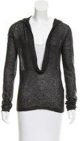 Ann Demeulemeester Hooded Mohair Sweater