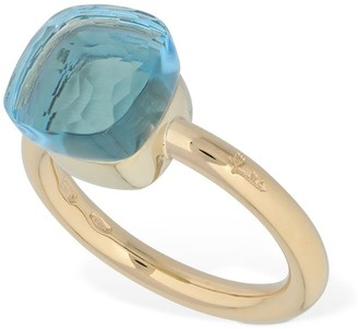 Pomellato Nudo 18kt Gold Ring W/ Light Blue Topaz