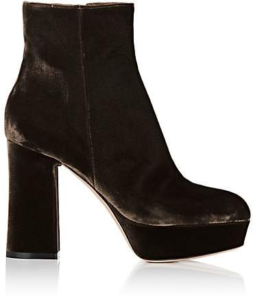 Women's Foley Velvet Platform Ankle Boots by Women's Foley Velvet Platform Ankle Boots
