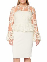 Thumbnail for your product : Gina Bacconi Women's Shelly Lace and Crepe Dress Cocktail
