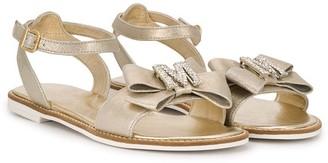 MonnaLisa TEEN crystal-embellished sandals