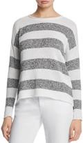 Eileen Fisher Petites Striped Organic Linen Sweater