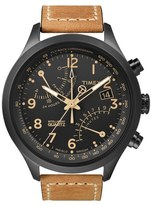 Timex 'Intelligent Quartz' Flyback Chronograph Watch, 45mm