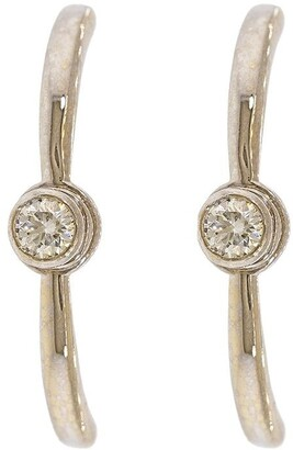 KatKim 18kt white gold diamond Grande Eternal earrings