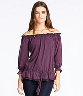 William Rast Grace Lace-Trimmed Off-The-Shoulder Top