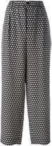 Marni printed wide leg trousers - women - Silk - 40