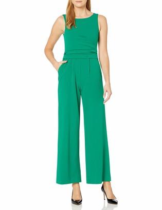Calvin Klein Women's Sleeveless Jumpsuit with Flat Pleat Waist Detail