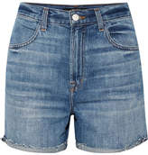 J Brand Joan Distressed Denim Shorts - Mid denim