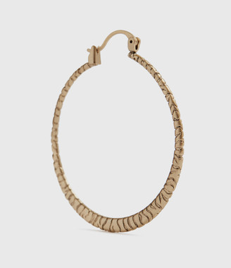 AllSaints Horn Gold-Tone Hoop Earrings