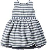 Carter's Striped Dress (Baby) - Navy-12 Months