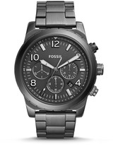 Fossil Oakman Chronograph Gunmetal Stainless Steel Watch