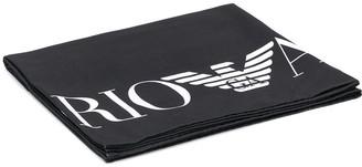 EA7 Emporio Armani Large Logo Print Towel