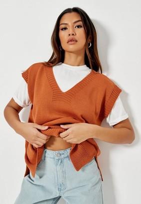 Missguided Petite Brick Sweater Knit Tank Top