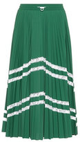 Valentino Lace-trimmed midi skirt