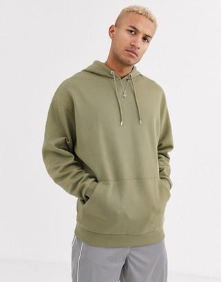 ASOS DESIGN oversized longer length hoodie in light khaki