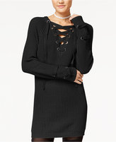 Polly & Esther Juniors' Lace-Up Tunic Sweater