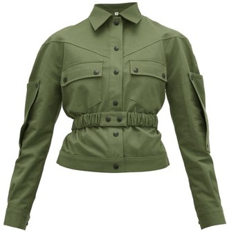 Symonds Pearmain - Belted Cotton-gabardine Jacket - Womens - Khaki