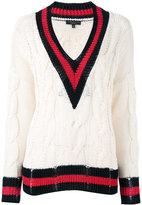 Rag & Bone contrast-trim V-neck jumper