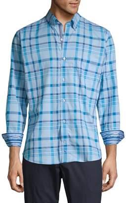 Tailorbyrd Plaid-Print Button-Down Shirt