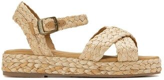La Redoute Collections Woven Straw Sandals