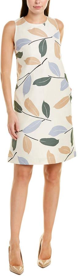 Lafayette 148 New York Hana Linen-Blend Shift Dress