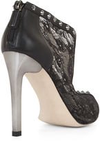 BCBGMAXAZRIA Whim Lace and Studs High-Heel Bootie