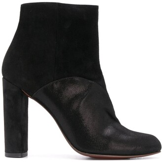Chie Mihara Suede Panel Ankle Boots